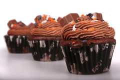 Holiday Chocolate Cupcakes Stock Photo