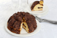 Holiday chocolate Panettone Stock Images