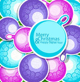 Holiday Christmas background with balls Stock Photo