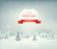 Holiday christmas background with landscape Stock Images