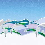 Holiday christmas. Background with snow Stock Photo