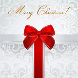 Holiday / Christmas / Birthday card. Gift box, bow stock photography