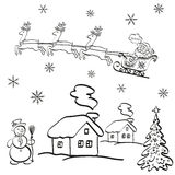Holiday Christmas Cartoon Royalty Free Stock Images