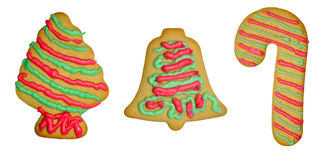 Holiday Christmas Cookies Royalty Free Stock Photography