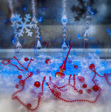 Holiday Christmas decorations, wallpaper. Rasfokus Stock Photography