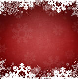 Holiday Christmas Ice Snowflakes Red Background Stock Photos