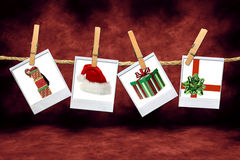 Holiday Christmas Images: Santa Hat, Gifts and Chi Stock Images