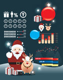 Holiday christmas infographic  Stock Images