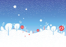 Holiday christmas. New year greeting card. Landscape Stock Photo