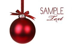 Holiday Christmas Ornament Hanging Royalty Free Stock Photo