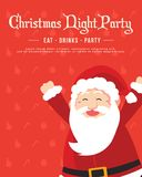 Holiday Christmas Party With Red Background Stock Images