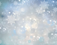 Holiday christmas snowflake background. Royalty Free Stock Photography