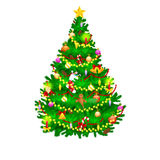 Holiday christmas tree isolated decoration for celebrate xmass with ball gold bells candles stars lights candy and. Gingerbread men Royalty Free Stock Images