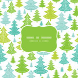 Holiday Christmas trees frame seamless pattern Royalty Free Stock Photos