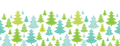 Holiday Christmas trees horizontal seamless Royalty Free Stock Photography