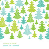 Holiday Christmas trees horizontal seamless Stock Images