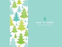Holiday Christmas trees horizontal seamless Royalty Free Stock Image