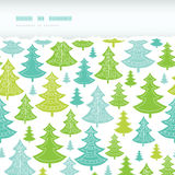 Holiday Christmas trees horizontal torn seamless Royalty Free Stock Images