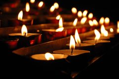Holiday church candles Stock Image