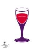 Holiday classic vector goblet, stylish alcohol theme illustratio Royalty Free Stock Photo