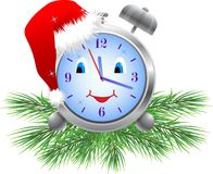 Holiday clock Royalty Free Stock Images