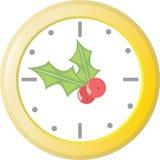 Holiday Clock vector illustration