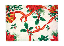 Holiday cloth place mat Stock Photo