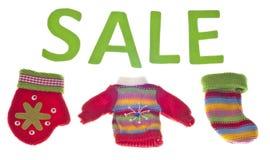 Holiday Clothing Sale Stock Image