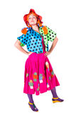 Holiday, clown girl Royalty Free Stock Images