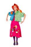 Holiday, clown girl Royalty Free Stock Image