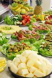 Holiday cold buffet. Holiday buffet food on the table Stock Images