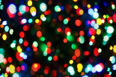 Holiday color unfocused lights stock photography