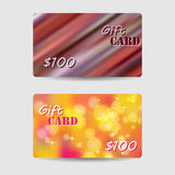 Holiday Colorful Abstract Gift Cards Design Stock Photography