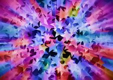 Holiday colorful background consisting of stars Royalty Free Stock Image