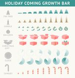 Holiday coming progress bar. Stock Image