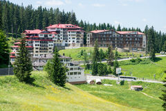 Holiday complex in the Rhodope Mountains. Pamporovo, Bulgaria. Despite his fame winter resort Pamporovo has a lot to offer in the summer for anyone who decided stock image