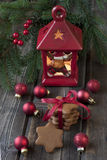 Holiday composition with christmas symbols Stock Image