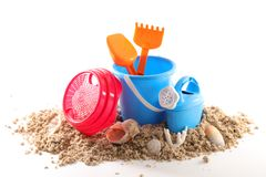 Holiday concept beach object. On white stock images