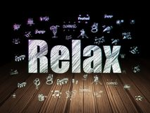 Holiday concept: Relax in grunge dark room Royalty Free Stock Photo