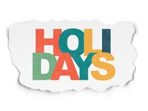 Holiday concept: Holidays on Torn Paper background. Holiday concept: Painted multicolor text Holidays on Torn Paper background Royalty Free Stock Photo