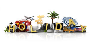 Holiday concept. Isolated on white background Royalty Free Stock Photos