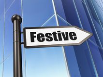 Holiday concept: sign Festive on Building background. 3D rendering Royalty Free Stock Image