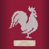 Holiday congratulation - Happy New Year. Jersey Cock. Holiday congratulation - Happy New Year. Vector jersey Cock Stock Illustration
