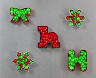 Holiday Cookie Cutters filled with Candy Royalty Free Stock Photo