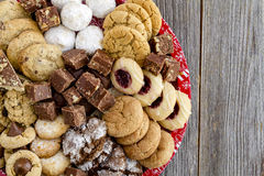 Holiday Cookie Gift Tray with Assorted Baked Goods Stock Images