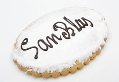 Holiday Cookie San Blas. Sweet typical day on February 3 in Spai Stock Image