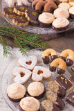 Holiday cookie selection Royalty Free Stock Photography