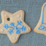 Holiday Cookies On Blue Background for the Holidays Stock Photography