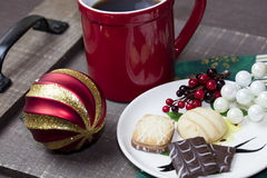 Holiday Cookies and Coffee Royalty Free Stock Photo