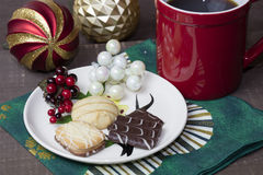 Holiday Cookies and Coffee Royalty Free Stock Image